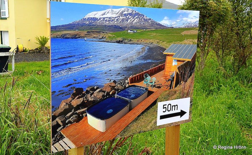 Hauganes hot tubs N-Iceland