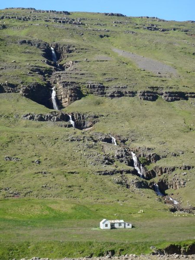 A beautiful waterfall by an abandoned farm in East Iceland.