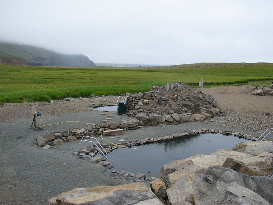 Grettislaug is a hot tub in north Iceland.