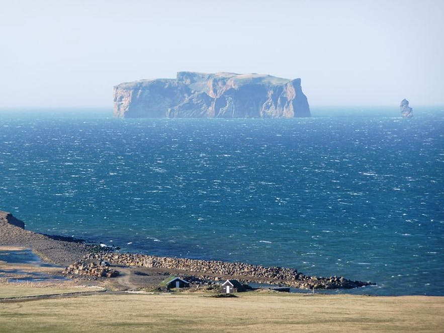 Drangey Island, as seen from Grettislaug.
