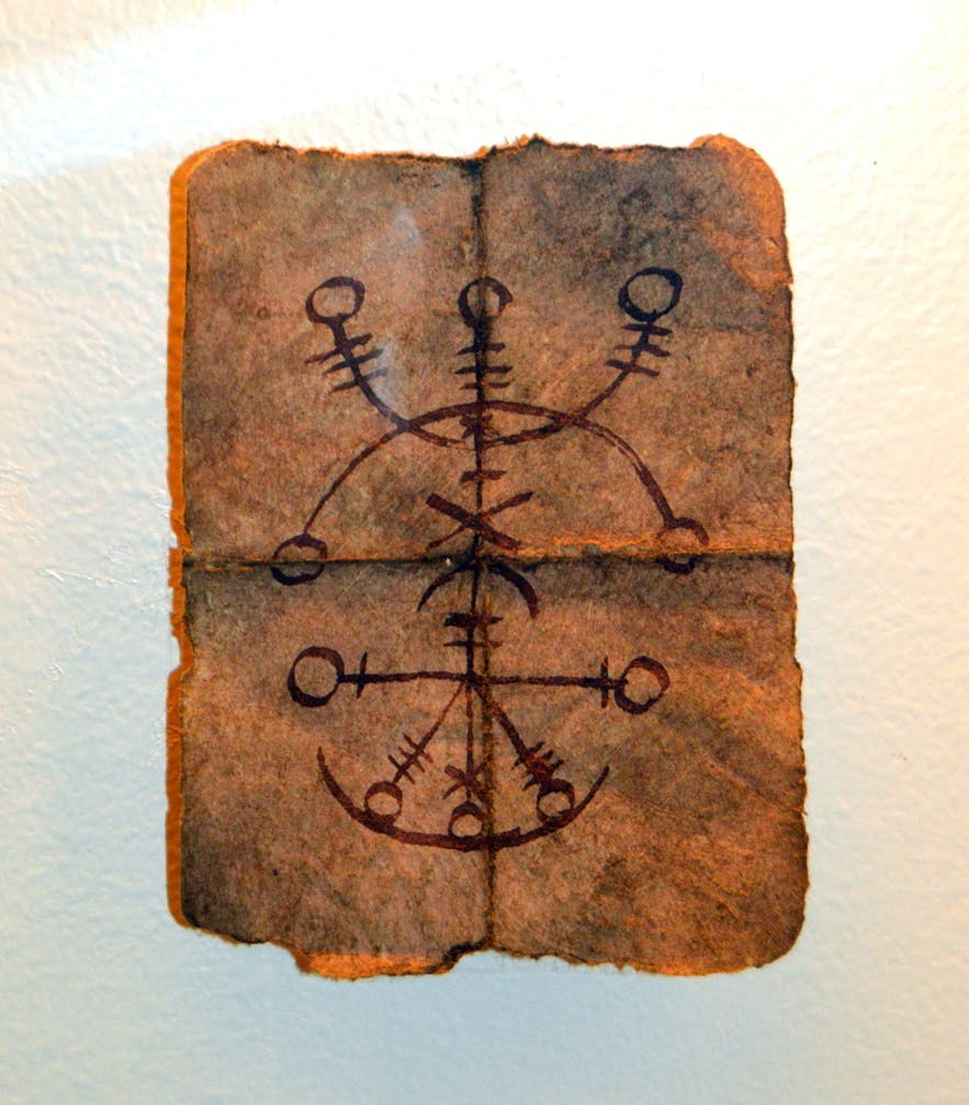 An Icelandic rune as seen in Hólmavík's museum of witchcraft.