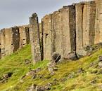Gerðuberg hexagonal basalt columns are a geological wonder.
