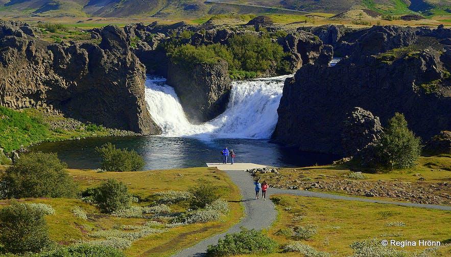 Hjálparfoss waterfall in south Iceland