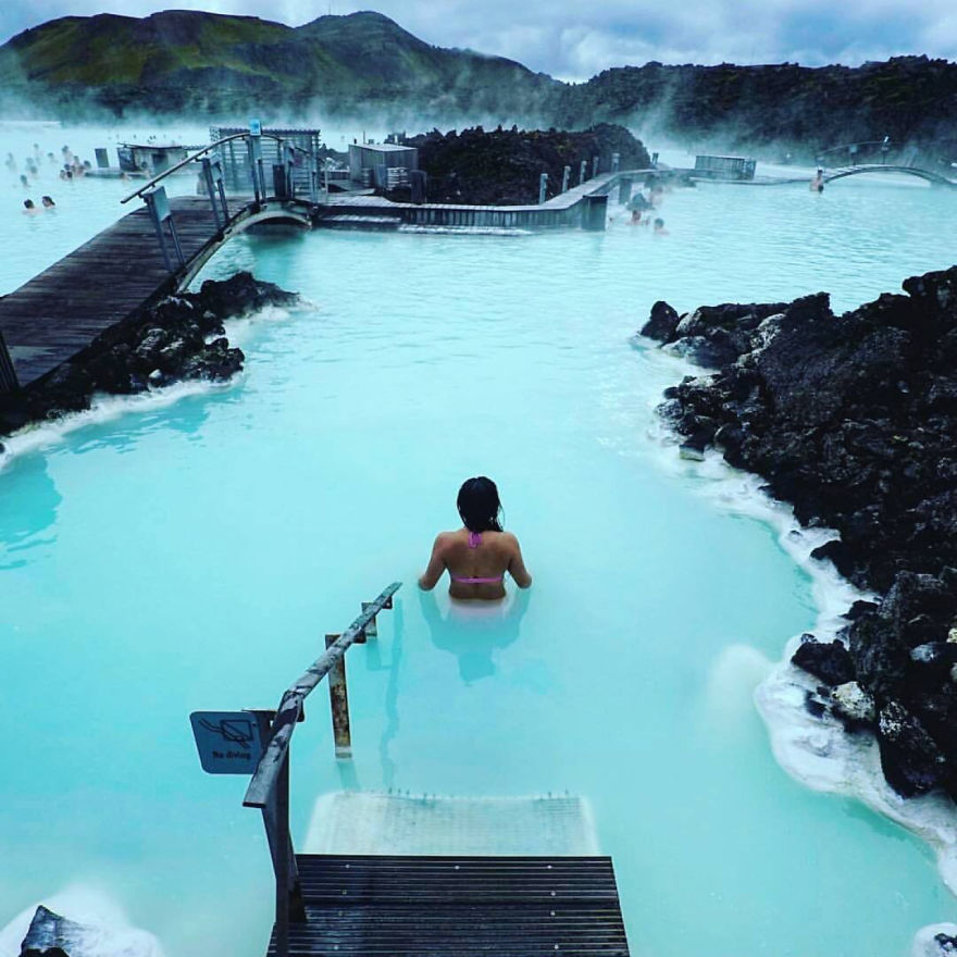 The azure waters of the Blue Lagoon are said t have remarkable healing properties.