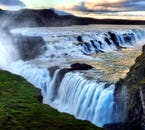 Gorgeous Gullfoss waterfall on a summer evening. South Iceland.