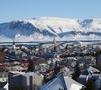Reykjavík on a winter day.