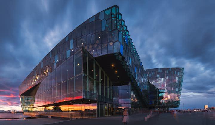 Harpa is a building in Reykjavík.