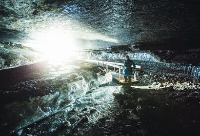 Jaskinia lodowa w Langjokull i skutery śnieżne | Wycieczka spod Gullfoss