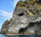 The Elephant Rock is an unusual rock formation in the Westman Islands.