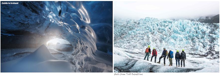 冰島藍冰洞和冰川健行的分別