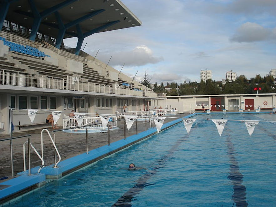 Laugardalslaug is the largest swimming pool in Iceland.