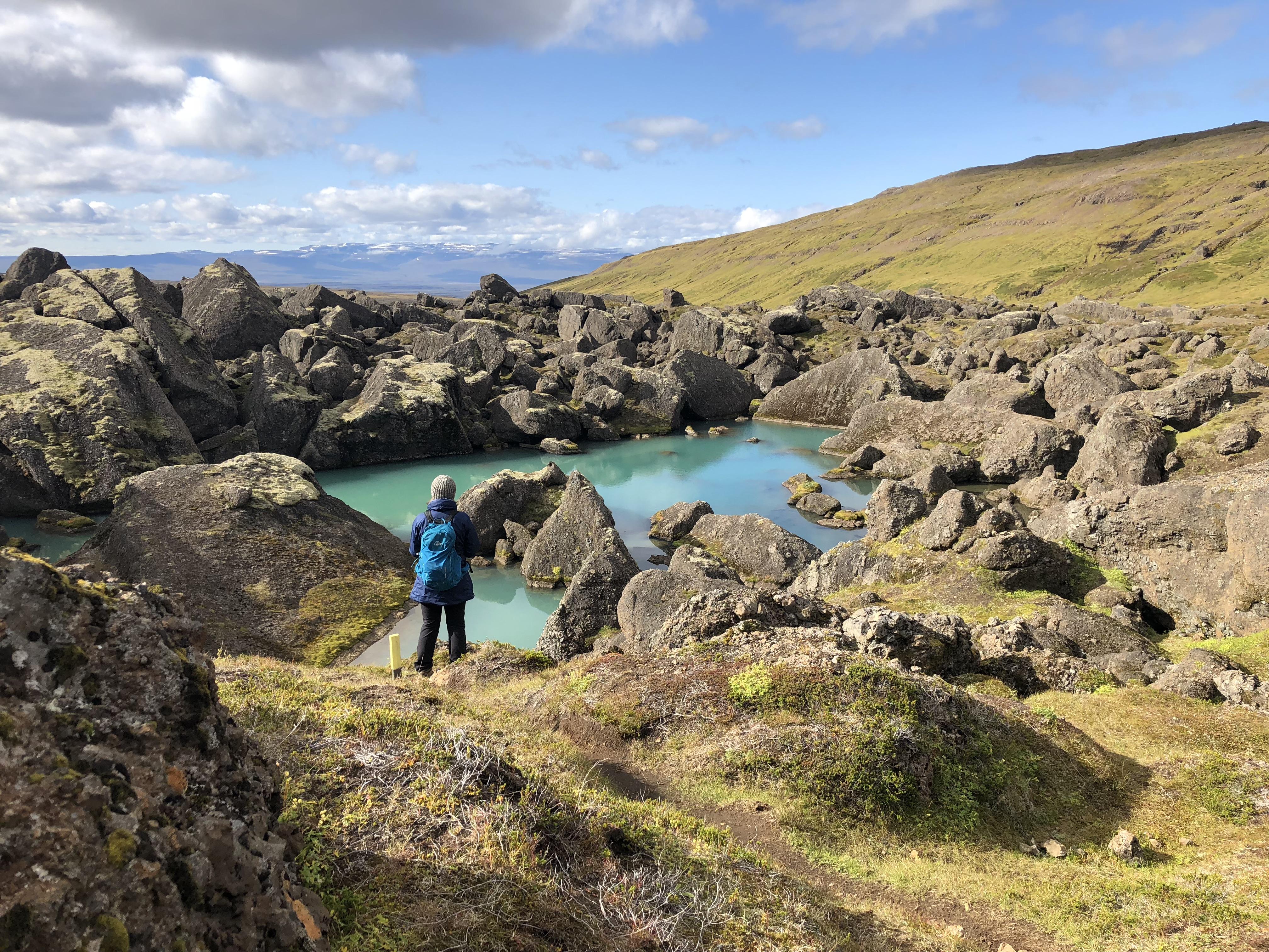 Chemin de randonnée Stórurð dans les Hautes Terres de l'est.
