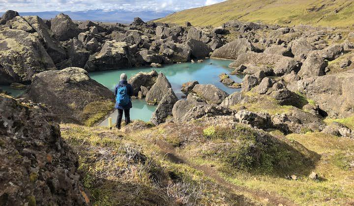 Stórurð hiking trail in the eastern Highlands.