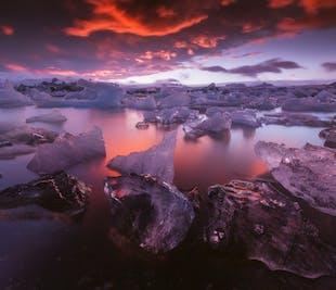 3日間写真撮影ツアー|南海岸、ヨークルスアゥルロゥン氷河湖