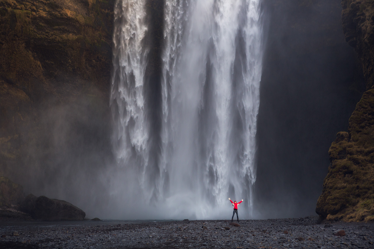Seljalandsfoss is among the most well-visited waterfalls on Iceland's South Coast.