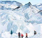 The glacier will often form ice mountains right there on the ice cap, just another peak to summit!