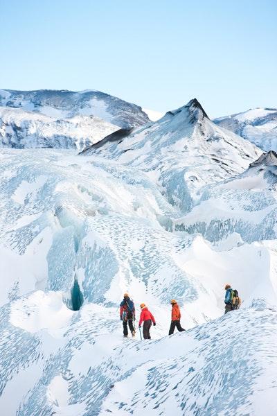 冰岛冰川徒步-冰河健行