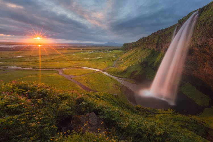Seljalandsfoss is one the South Coast's most iconic waterfalls.