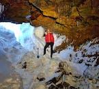 冬のレイザレンディ洞窟の中の様子