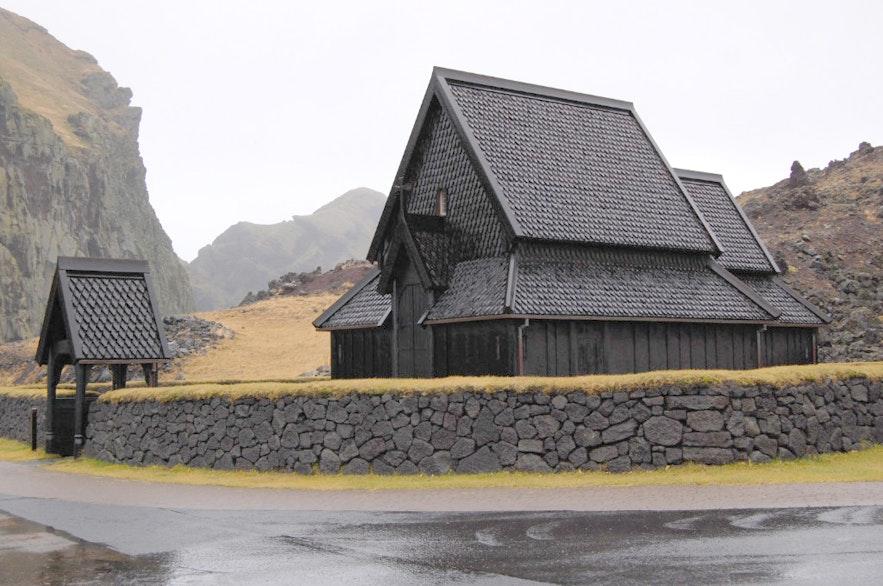 Heimaey stave church in Iceland.