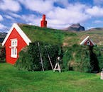 An old turf house, as were traditional in Iceland for many centuries.