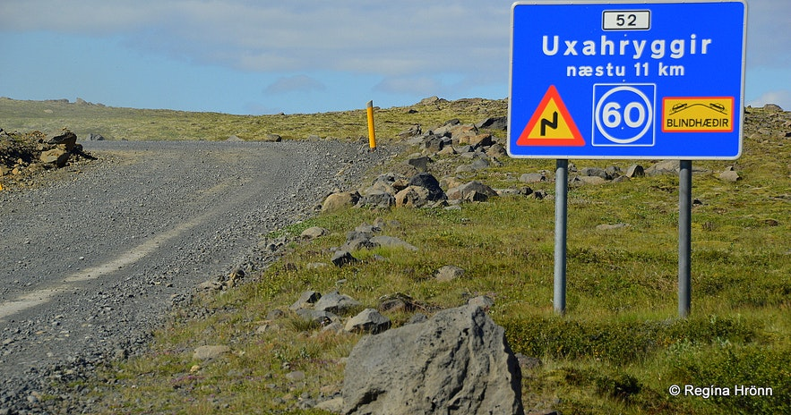 Uxahryggir road 11 km
