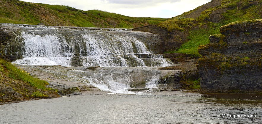 A waterfall in Fitjaá river above Hvítserkur