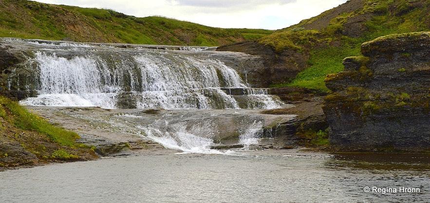 A waterfall in Fitjaá river above Hvítserkur