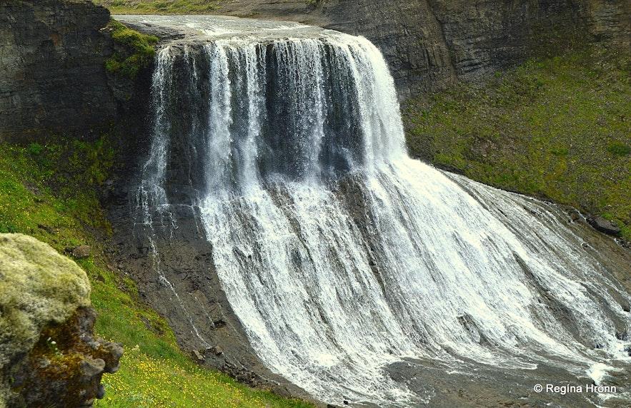 The majestic Waterfall Hvítserkur in Fitjaá River in West-Iceland