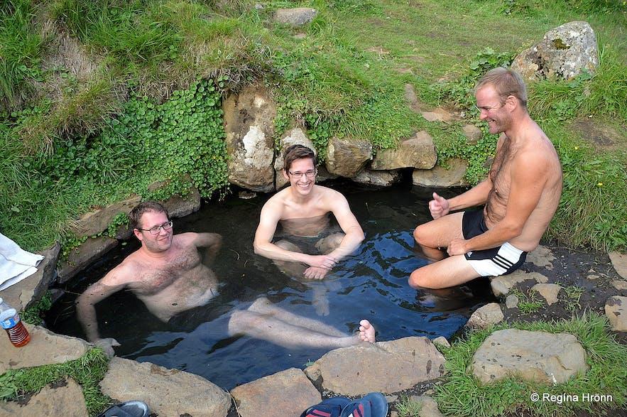 Lundarreykjadalur Valley in West-Iceland - the Natural Hot Pools Krosslaug and Englandshver