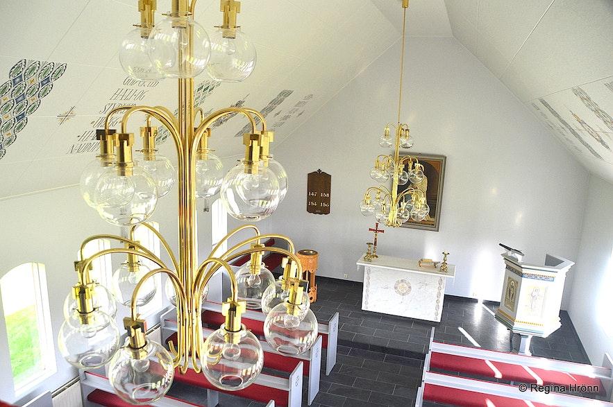 Inside Lundarkirkja church