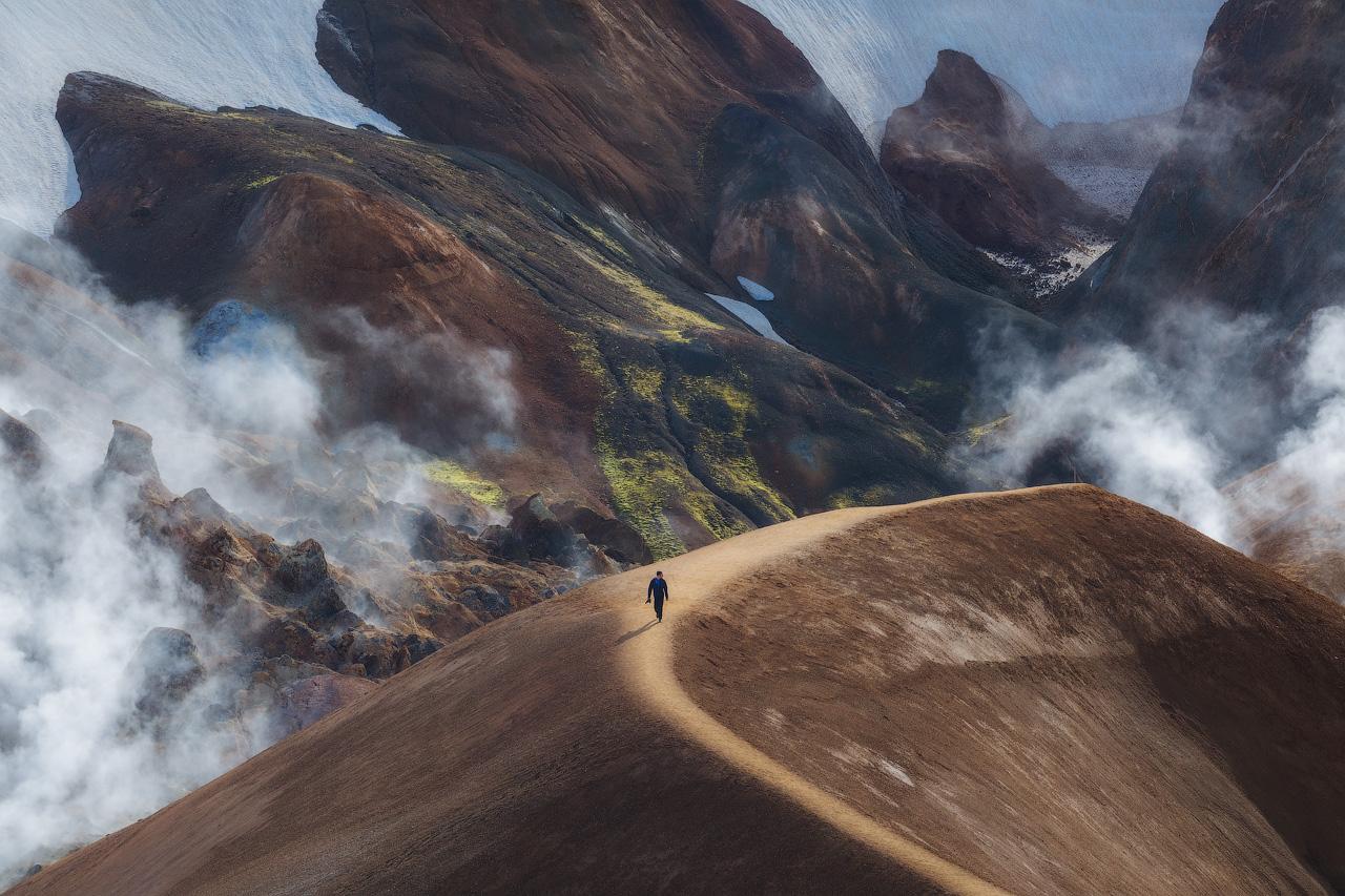 Les hautes terres stériles mais magnifiques d'Islande.