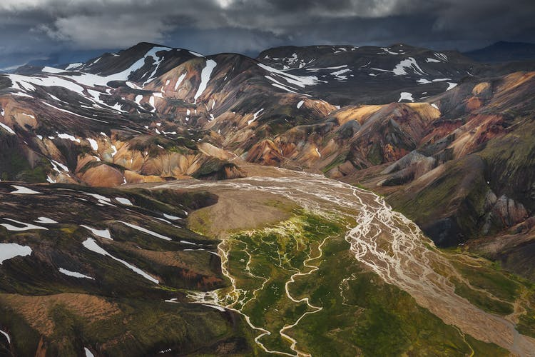Veiðivötn are a series of lakes found within the Highlands of Iceland.