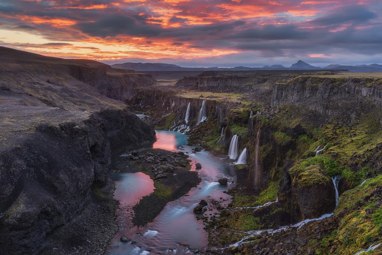 Les hauts plateaux d'Islande sont un peu visités mais incroyablement beaux.