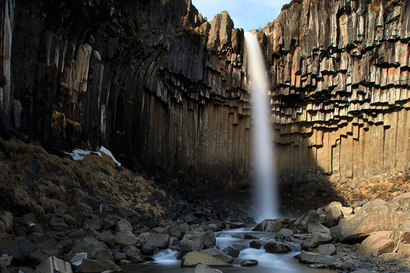 Svartifoss, 'the black waterfall' in Skaftafell Nature Reserve.