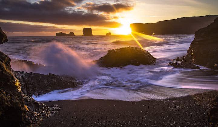 Admire the crashing waves of the Atlantic Ocean on Reynisfjara black sand beach
