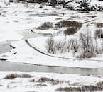 Þingvellir park dressed in in winter garb.
