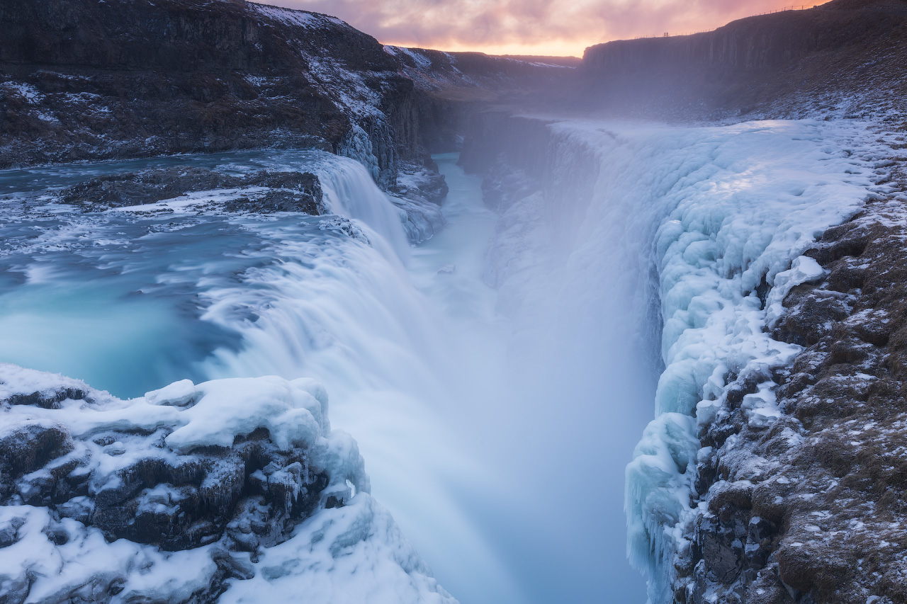 The Golden Circle boasts some of the best sites in Iceland, such as Gullfoss waterfall, pictured in winter.