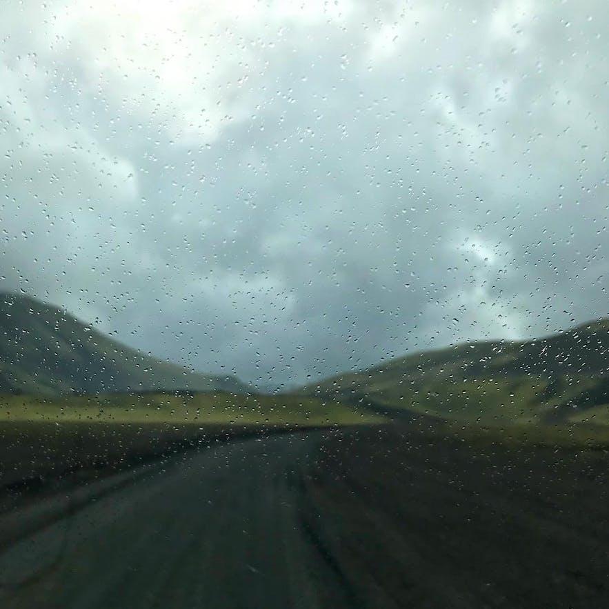 rainy road highlands