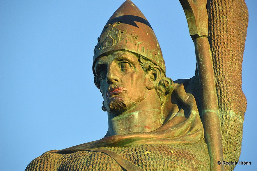 The statue of Ingólfur at Arnarhóll Reykjavík