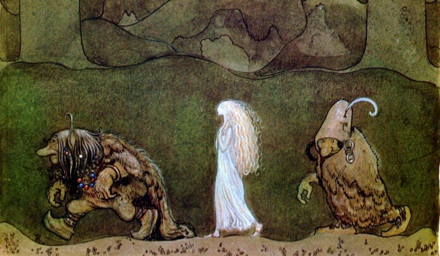 冰岛有很多关于小精灵、巨魔和仙女的传说