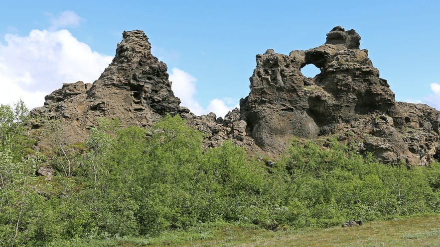 Dimmuborgir is considered to be the Capital of Iceland's elven people.