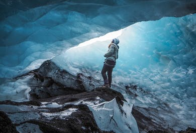 ソゥルヘイマヨークトル氷河発|氷河ハイキング3時間