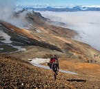 Hiking in the ryolite mountains of south-east Iceland.