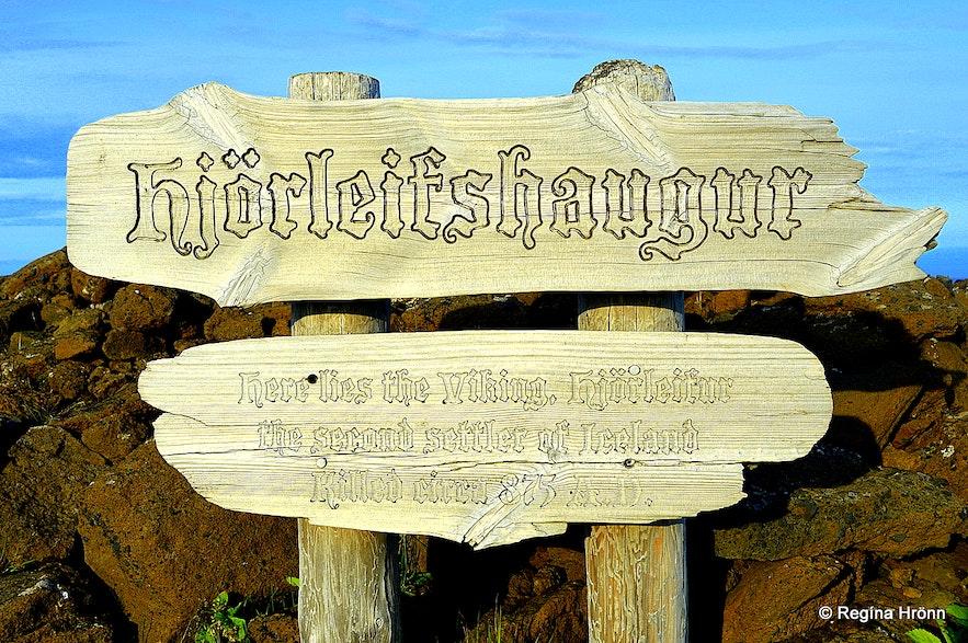 Hjörleifshaugur burial mound on Hjörleifshöfði