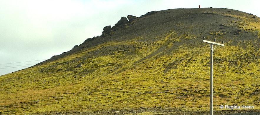 Kögunarhóll opposite the road from Mt. Ingólfsfjall