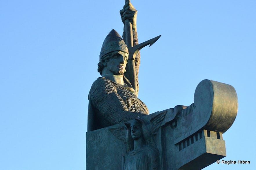 The statue of Ingólfur Arnarson in Reykjavík