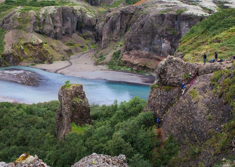 Nupsa River in Nupsstadaskogar Valley