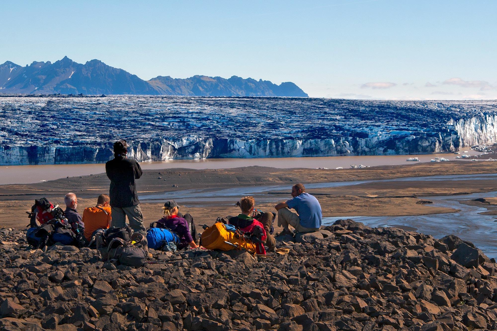 冰岛中央内陆高地的Slettur平原是Laugavegur徒步路线的必经之路