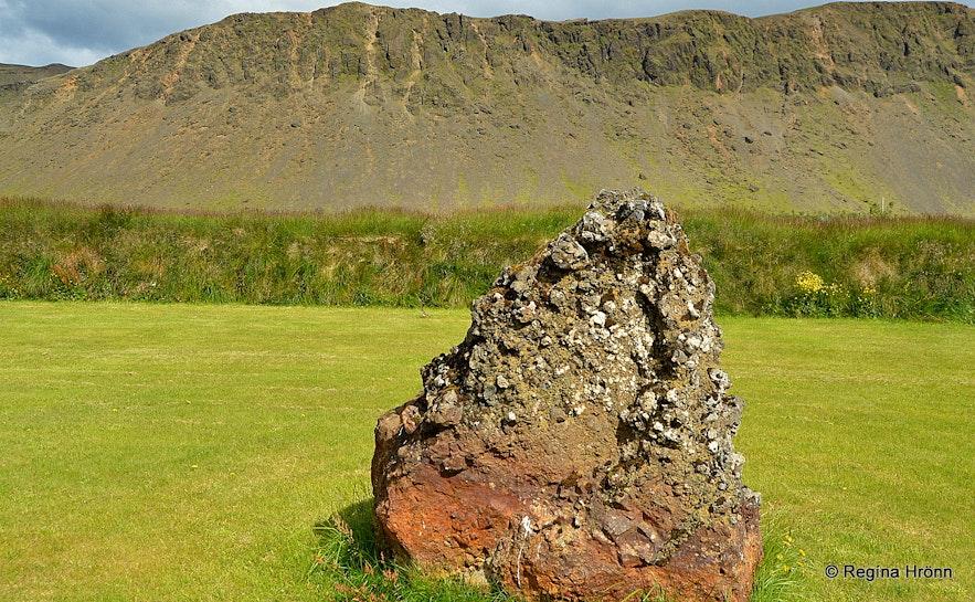 A rock outside Ingólfsskáli